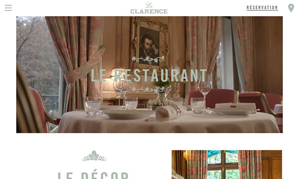 Restaurant Le Clarence